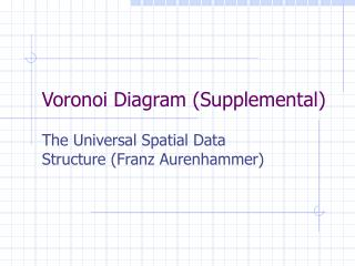 Voronoi Diagram (Supplemental)