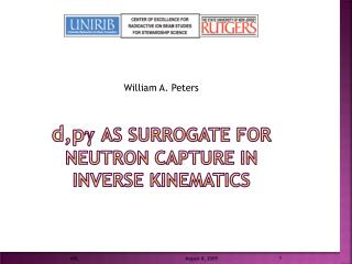 d,p γ as surrogate for neutron capture in inverse kinematics