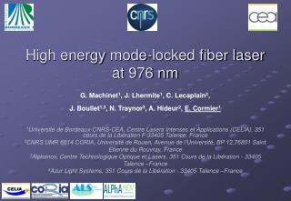 High energy mode-locked fiber laser at 976 nm