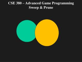CSE 380 – Advanced Game Programming Sweep & Prune