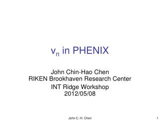 v n  in PHENIX