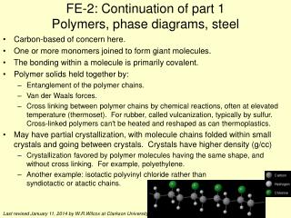 FE-2: Continuation of part 1 Polymers, phase diagrams, steel