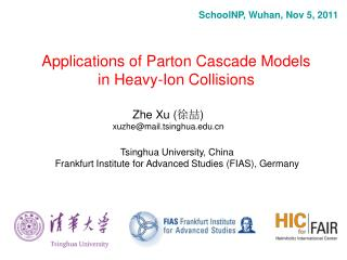 Applications of Parton Cascade Models in Heavy-Ion  Collisions