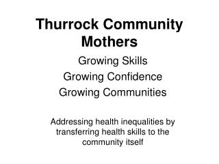 Thurrock Community Mothers