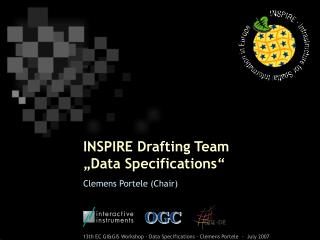 "INSPIRE Drafting Team  ""Data Specifications"""