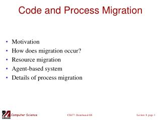Code and Process Migration