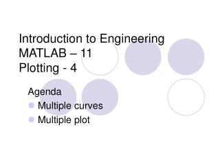 Introduction to Engineering MATLAB – 11 Plotting - 4