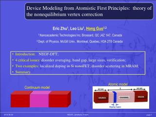Device Modeling from Atomistic First Principles:  theory of the nonequilibrium vertex correction