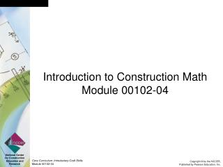 Introduction to Construction Math Module 00102-04