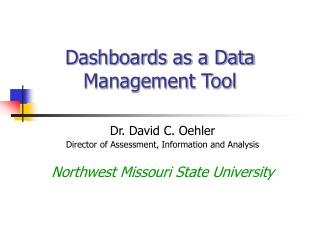 Dashboards as a Data Management Tool