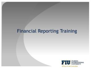 Financial Reporting Training
