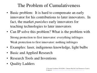 The Problem of Cumulativeness