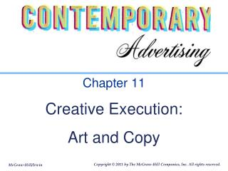 Chapter 11 Creative Execution:  Art and Copy