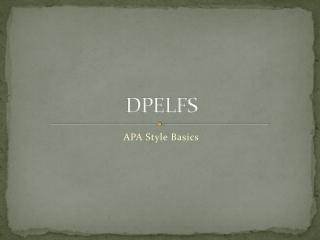 DPELFS