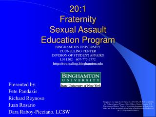 20:1 Fraternity Sexual Assault Education Program