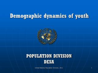 Demographic dynamics of youth