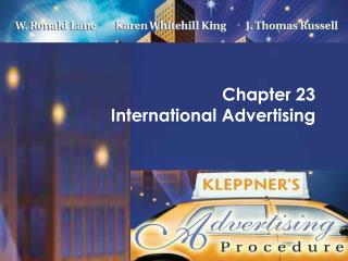 Chapter 23  International Advertising