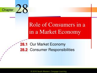 Role of Consumers in a in a Market Economy