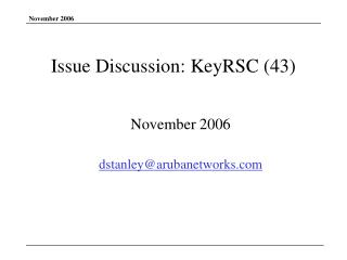Issue Discussion: KeyRSC (43)