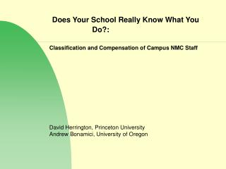 Does Your School Really Know What You Do?: