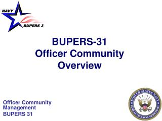 BUPERS-31 Officer Community  Overview