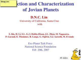 Detection and Characterization of Jovian Planets