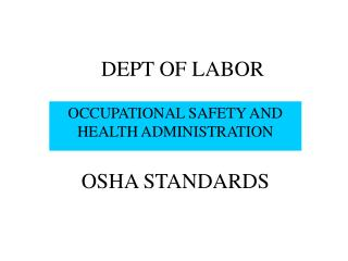 DEPT OF LABOR