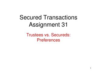 Secured Transactions Assignment 31