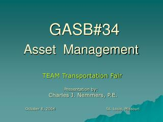 GASB#34  Asset  Management