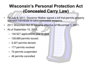 Wisconsin's Personal Protection Act (Concealed Carry Law)