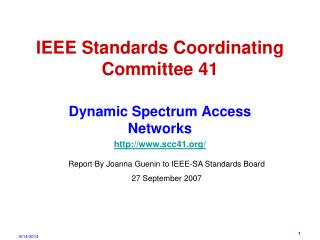 IEEE Standards Coordinating Committee 41