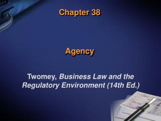 Chapter 38 Agency