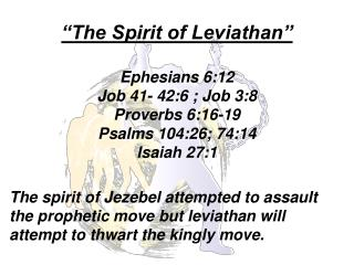 The Spirit of Leviathan :