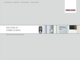 WELCOME AT  STIEBEL ELTRON