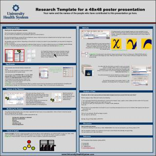 Research Template for a 48x48 poster presentation