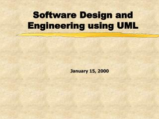 Software Design and Engineering using UML