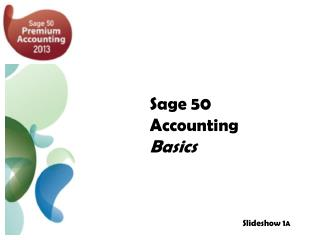Sage 50 Accounting  Basics