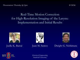 Presentation: Thursday @ 2pm