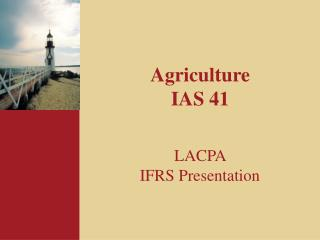 Agriculture IAS 41