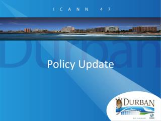 Policy Update