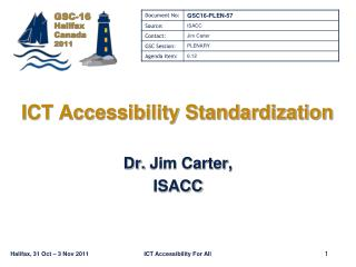 ICT Accessibility Standardization