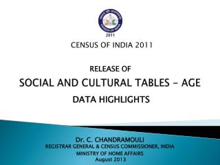 SOCIAL AND CULTURAL TABLES - AGE