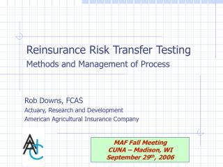 Reinsurance Risk Transfer Testing Methods and Management of Process