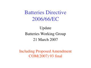Batteries Directive 2006/66/EC