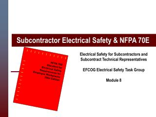 Subcontractor Electrical Safety & NFPA 70E