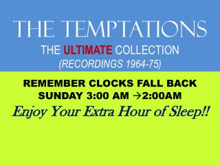 The TEMPTATIONS THE  ULTIMATE COLLECTION (RECORDINGS 1964-75)