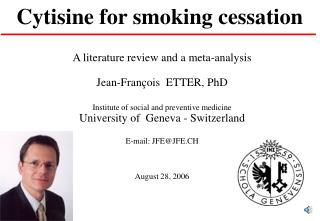 Cytisine for smoking cessation