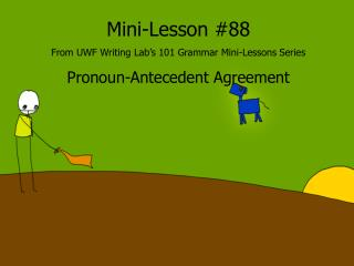 Mini-Lesson #88 From UWF Writing Lab's 101 Grammar Mini-Lessons Series