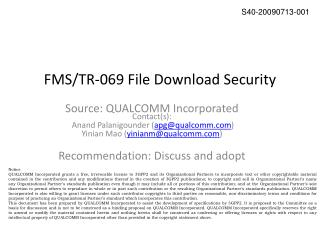 FMS/TR-069 File Download Security