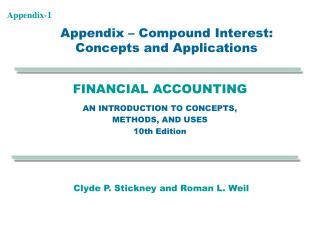 FINANCIAL ACCOUNTING AN INTRODUCTION TO CONCEPTS, METHODS, AND USES 10th Edition